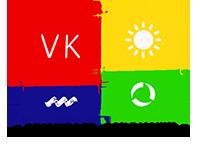 Το λογότυπο της VK Μηχανολόγοι Μηχανικοί.-Μύκονος με πλάτος 200px.