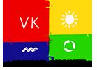 Το λογότυπο της VK Μηχανολόγοι Μηχανικοί.-Μύκονος