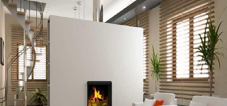 Εξοικονόμηση ενέργειας με ένα ενεργειακό τζάκι σε μοντέρνο σπίτι